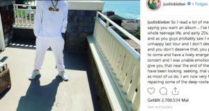 Justin Bieber will eine Pause (justinbieber/Instagram)